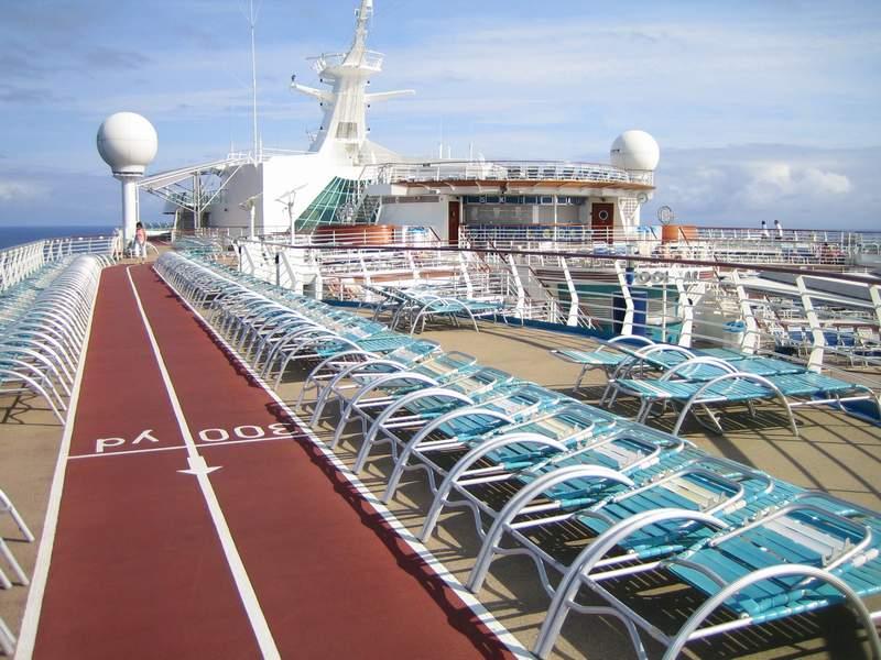 Jogging Track On Deck Royal Caribbean Explorer Of The Seas - Track royal caribbean cruise ships
