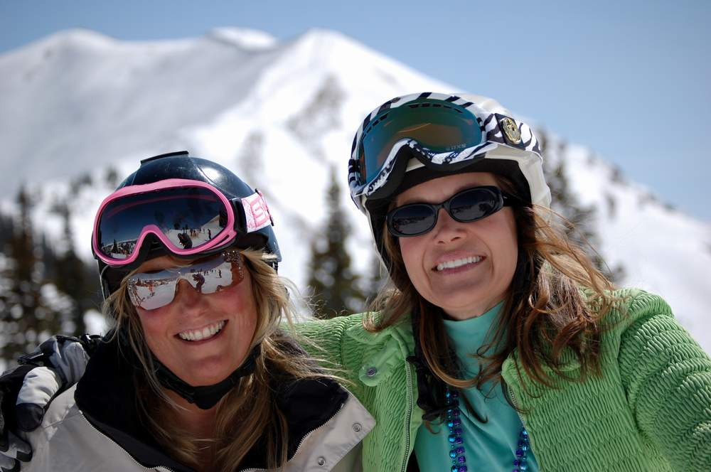 Susan And Kim Skiing Aspen Highlands